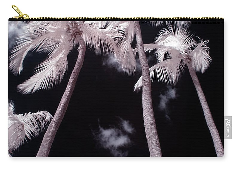 3scape Photos Carry-all Pouch featuring the photograph Infrared Palm Trees by Adam Romanowicz