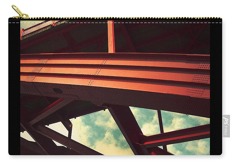 Bridge Carry-all Pouch featuring the photograph Infrastructure by Tim Nyberg