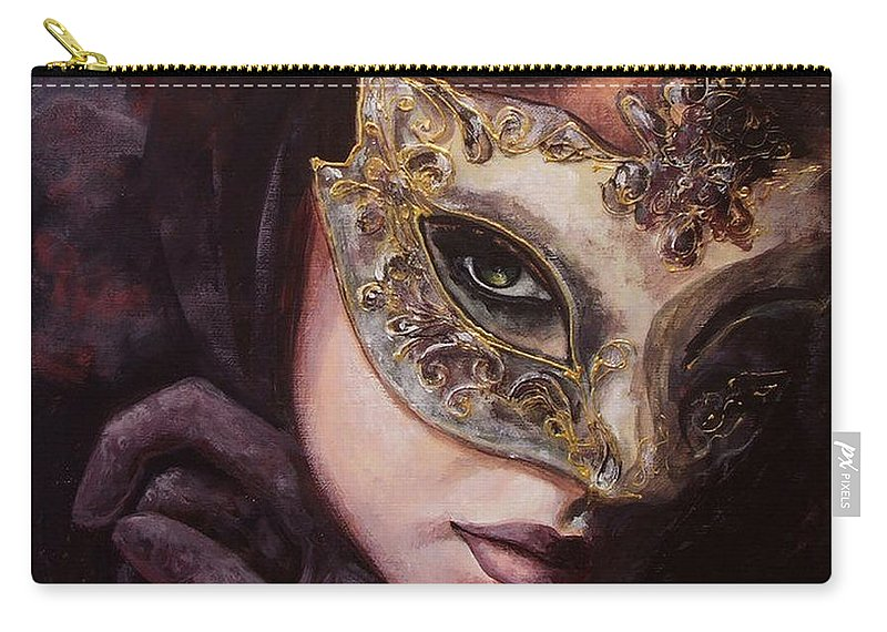 Art Carry-all Pouch featuring the painting Ingredient Of Mystery by Dorina Costras