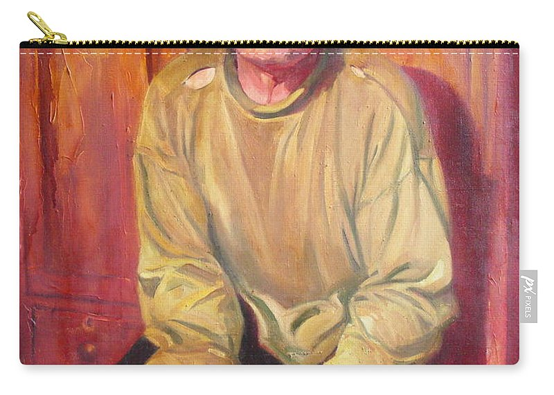 Oil Carry-all Pouch featuring the painting Inhabitant Of Chernobyl Zone by Sergey Ignatenko