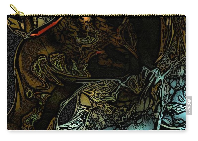 Abstract Carry-all Pouch featuring the digital art Inner Being by David Lane