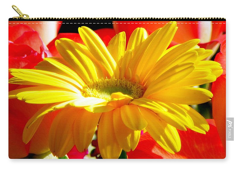 Floral Carry-all Pouch featuring the photograph Inner Glow by Karen Wiles