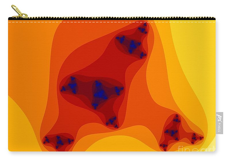 Fractal Art Carry-all Pouch featuring the digital art Inner Infinity by Ron Bissett