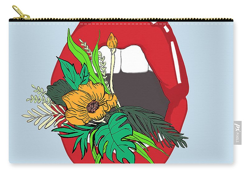 Floral Carry-all Pouch featuring the digital art Inner Oasis by Brittany Everette