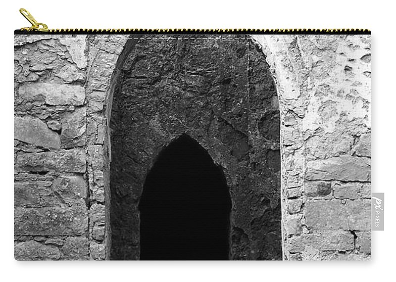 Ireland Carry-all Pouch featuring the photograph Inner Sanctum Fuerty Church Roscommon Ireland by Teresa Mucha