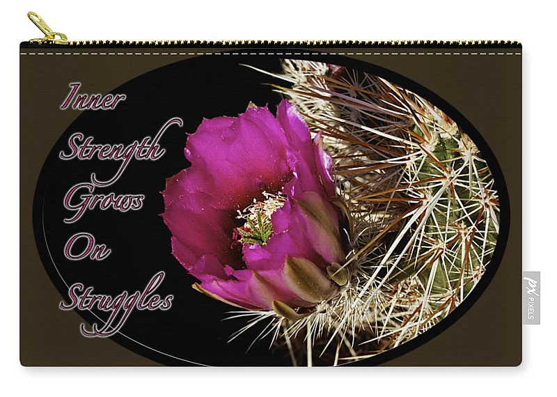 Flower Carry-all Pouch featuring the photograph Inner Strength by Phyllis Denton