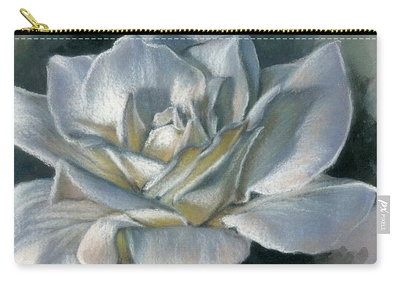 Rose Carry-all Pouch featuring the mixed media Innocence by Barbara Keith