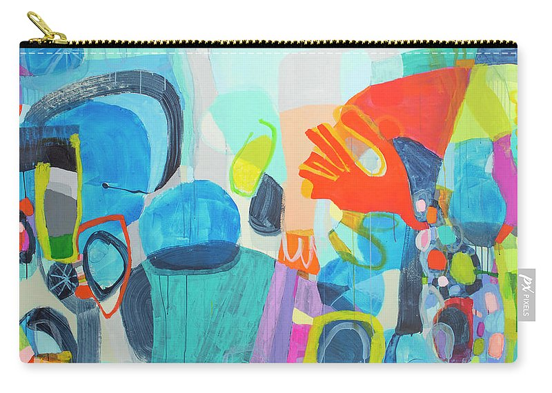 Abstract Carry-all Pouch featuring the painting Insatiable by Claire Desjardins