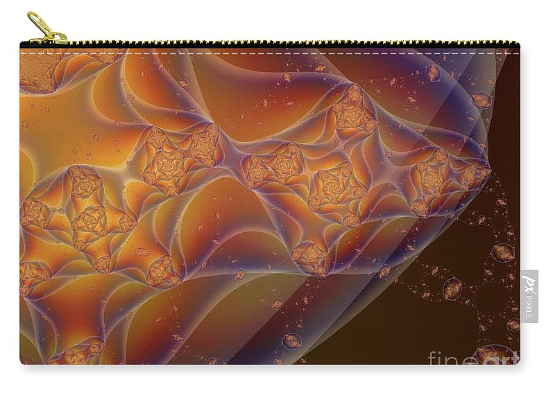 Fractal Art Carry-all Pouch featuring the digital art Inside And Out by Ron Bissett