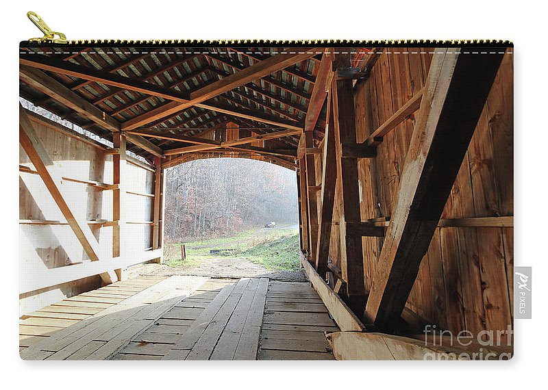 Big Carry-all Pouch featuring the photograph Inside Big Rocky Fork Bridge by Steve Gass