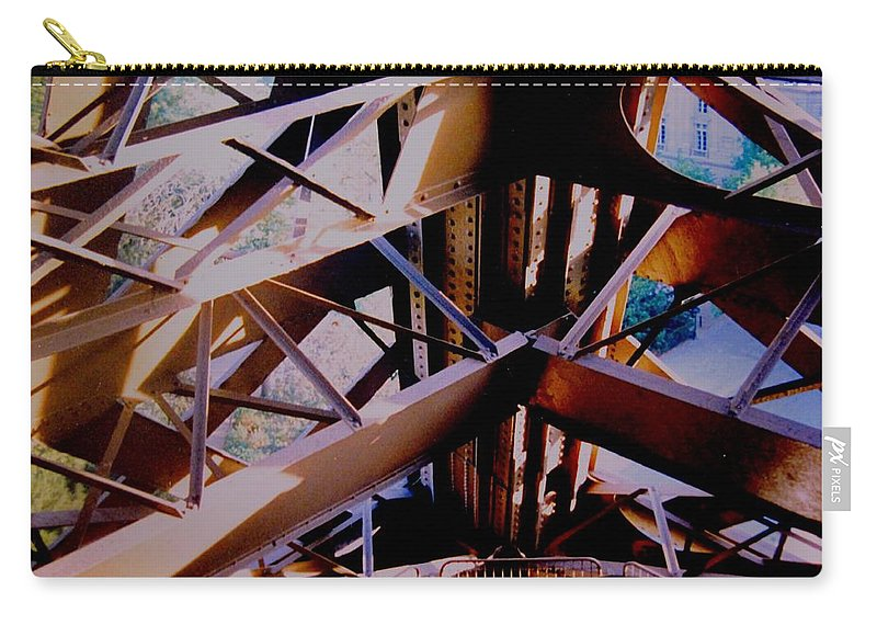 Eiffel Carry-all Pouch featuring the photograph Inside Eiffel by Ian MacDonald