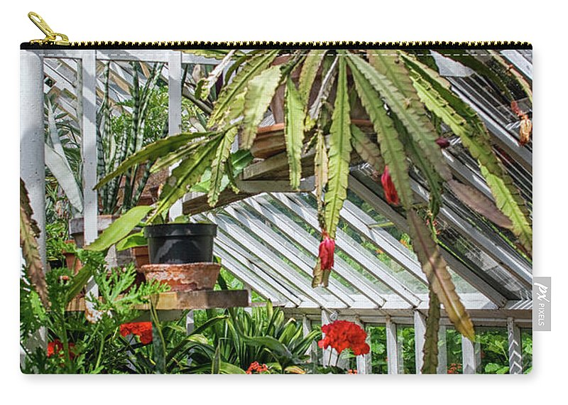Agriculture Carry-all Pouch featuring the photograph Inside The Greenhouse by Patricia Hofmeester