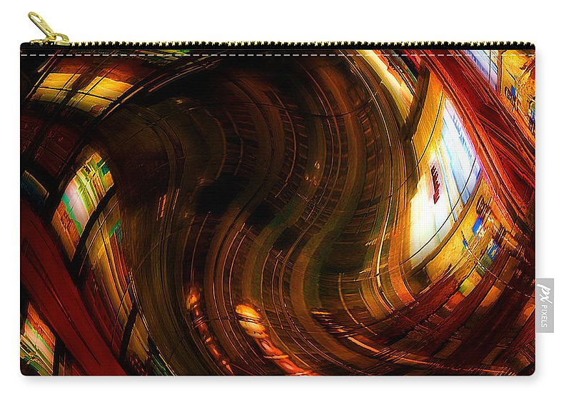 Books Carry-all Pouch featuring the digital art Inside The Magick Book Shop by RC DeWinter