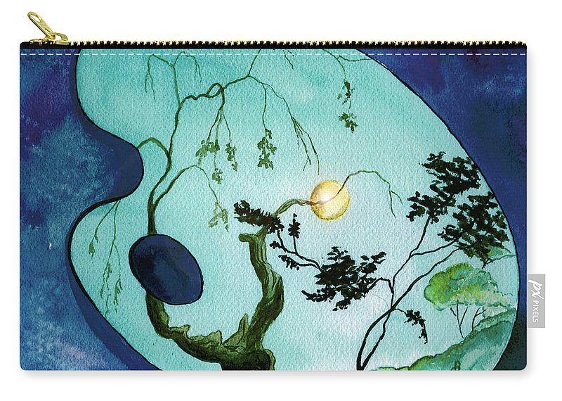 Watercolor Carry-all Pouch featuring the painting Inside The Palette by Brenda Owen