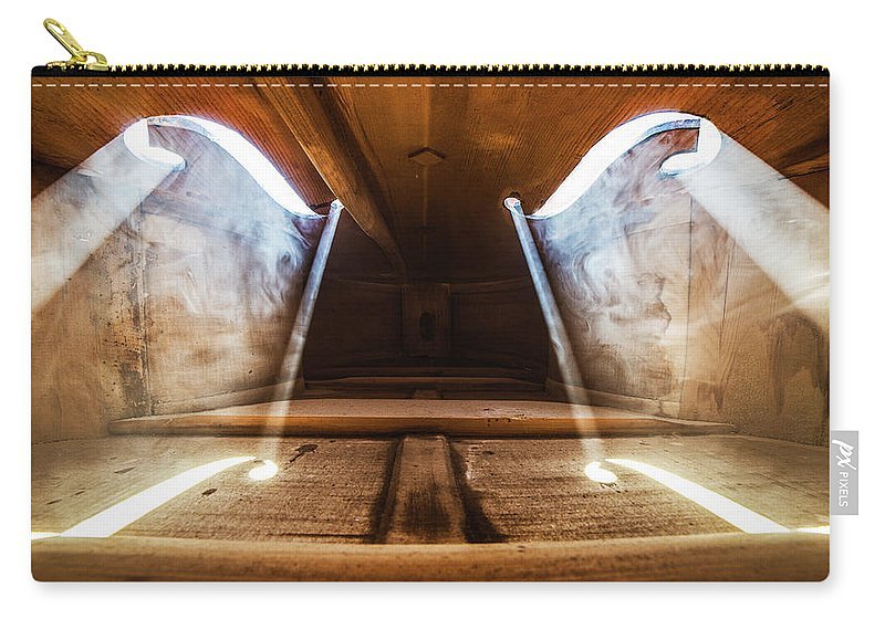 Violin Carry-all Pouch featuring the photograph Inside Violin by Adrian Borda