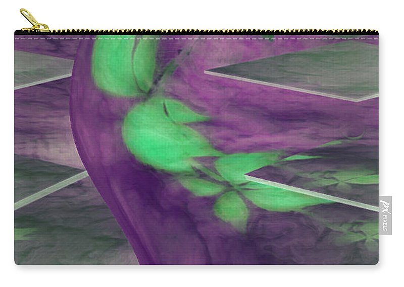 Abstracts Carry-all Pouch featuring the digital art Insight by Linda Sannuti
