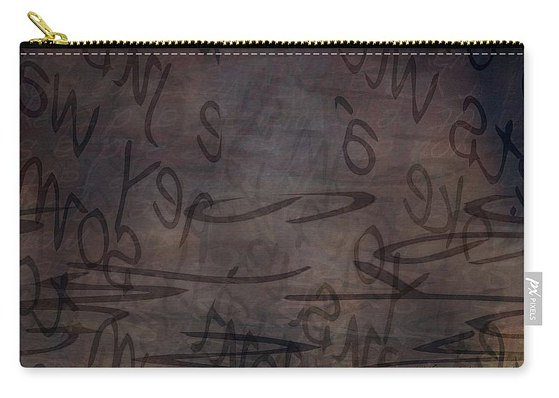 Implication Carry-all Pouch featuring the digital art Insignificance by Vicki Ferrari
