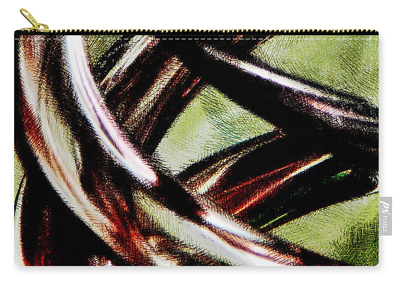 Art Carry-all Pouch featuring the digital art Inspiral by Steve Taylor