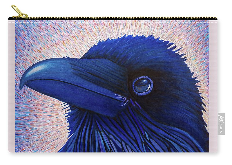 Raven Carry-all Pouch featuring the painting Inspiration by Brian Commerford