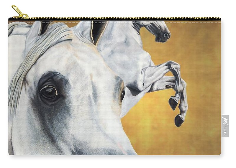 Horse Carry-all Pouch featuring the drawing Inspiration by Kristen Wesch