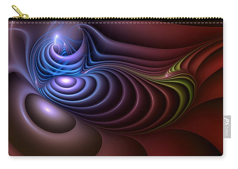 Abstract Carry-all Pouch featuring the digital art Inspiration Out Of Inanity by Casey Kotas