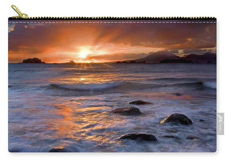 Alaska Carry-all Pouch featuring the photograph Inspired Light by Mike Dawson