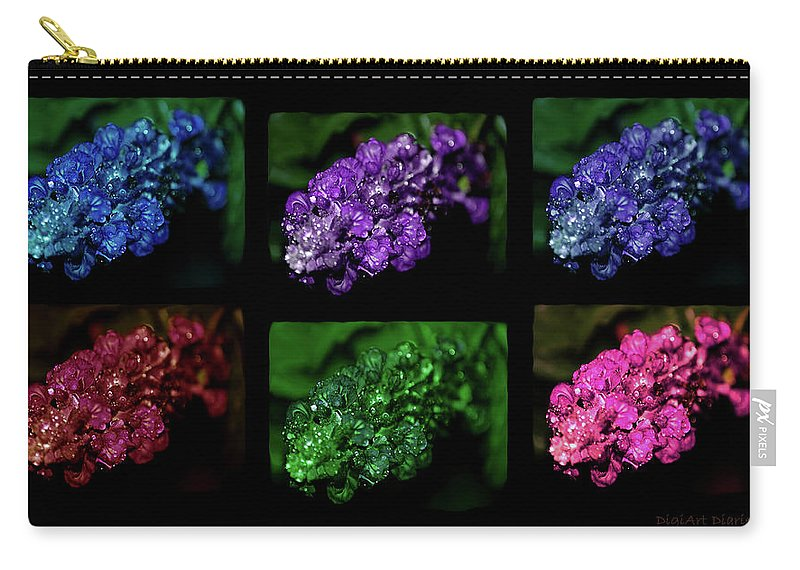 Flowers Carry-all Pouch featuring the digital art Intense Six by DigiArt Diaries by Vicky B Fuller