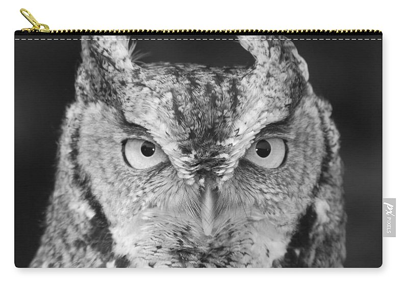 Black And White Carry-all Pouch featuring the photograph Intense Stare by Richard Bryce and Family