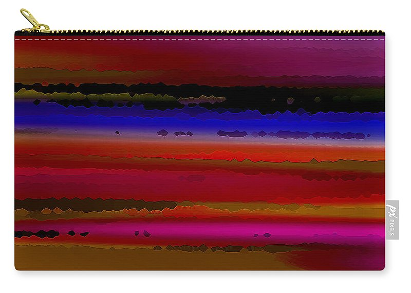 Abstract Carry-all Pouch featuring the digital art Intensely Hued II by Ruth Palmer