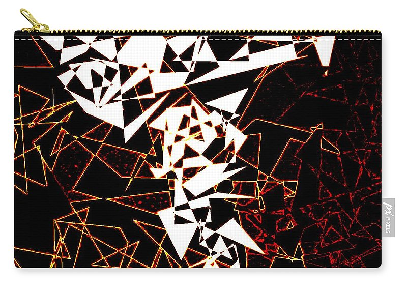 Abstract Carry-all Pouch featuring the digital art Interaction by Will Borden