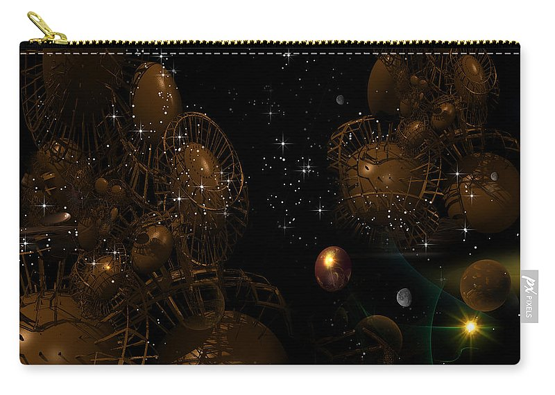 Phil Sadler Carry-all Pouch featuring the digital art Interesting Developement by Phil Sadler