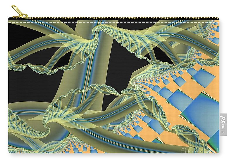 Fractal Image Carry-all Pouch featuring the digital art Interface by Ron Bissett