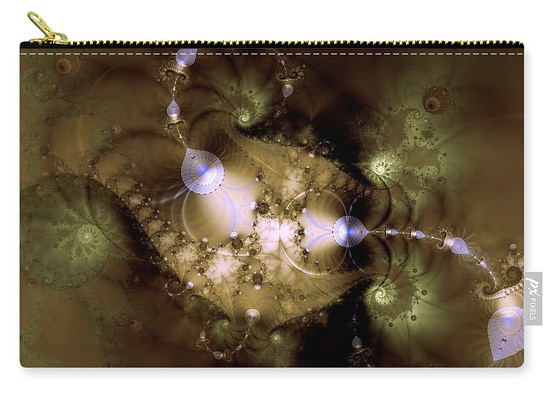 Dimension Carry-all Pouch featuring the digital art Intergalactica by Casey Kotas