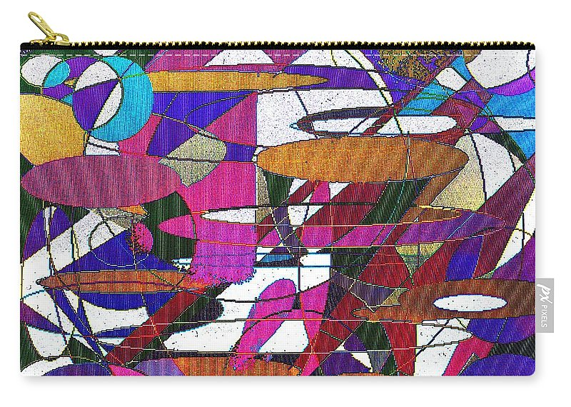 Abstract Carry-all Pouch featuring the digital art Intergalatic by Ian MacDonald