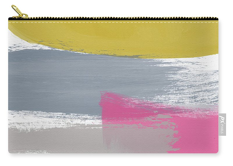 Abstract Carry-all Pouch featuring the painting Jubilee Mix 2- Abstract Art By Linda Woods by Linda Woods