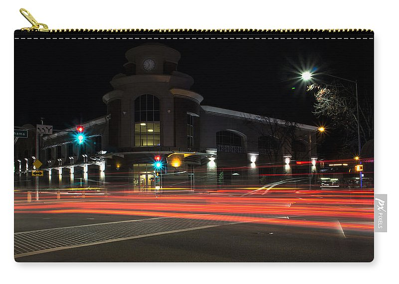 Light Trails Carry-all Pouch featuring the photograph Intersecting by Marnie Patchett