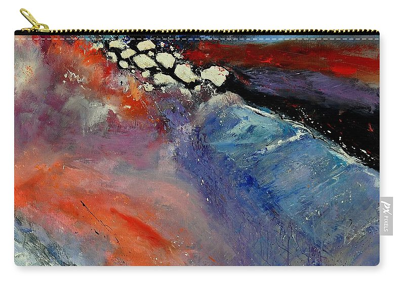 Abstract Carry-all Pouch featuring the painting Interstellar Overdrive 111110 by Pol Ledent