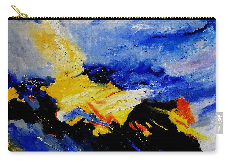 Abstract Carry-all Pouch featuring the painting Interstellar Overdrive 2 by Pol Ledent