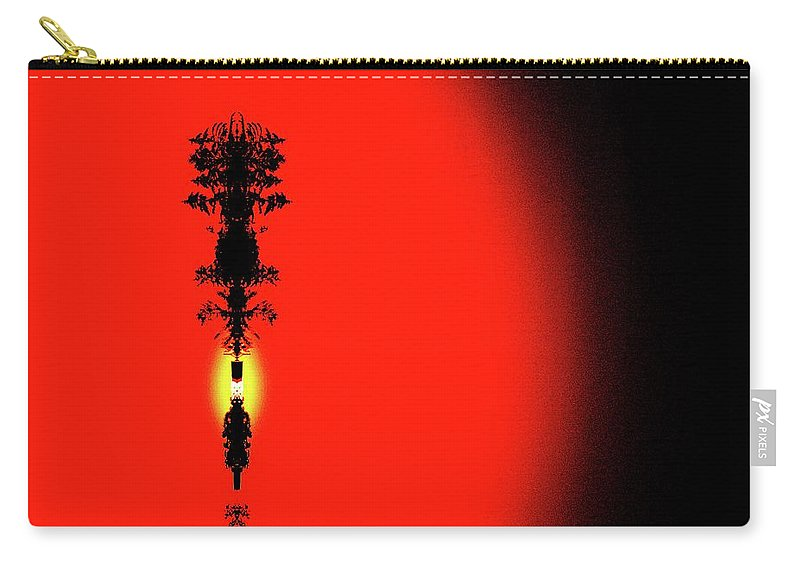 Abstract Carry-all Pouch featuring the digital art Interstellar Overdrive Five by Lyle Crump