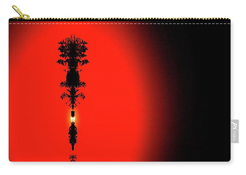 Abstract Carry-all Pouch featuring the digital art Interstellar Overdrive Four by Lyle Crump