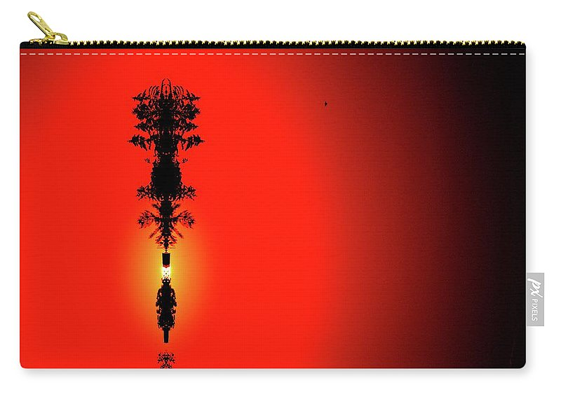 Abstract Carry-all Pouch featuring the digital art Interstellar Overdrive Three by Lyle Crump