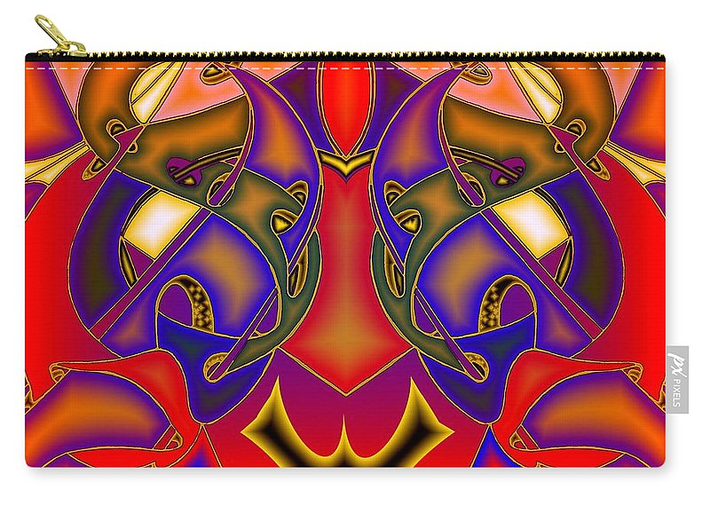 Life Carry-all Pouch featuring the digital art Intertwined Lifestreets by Helmut Rottler