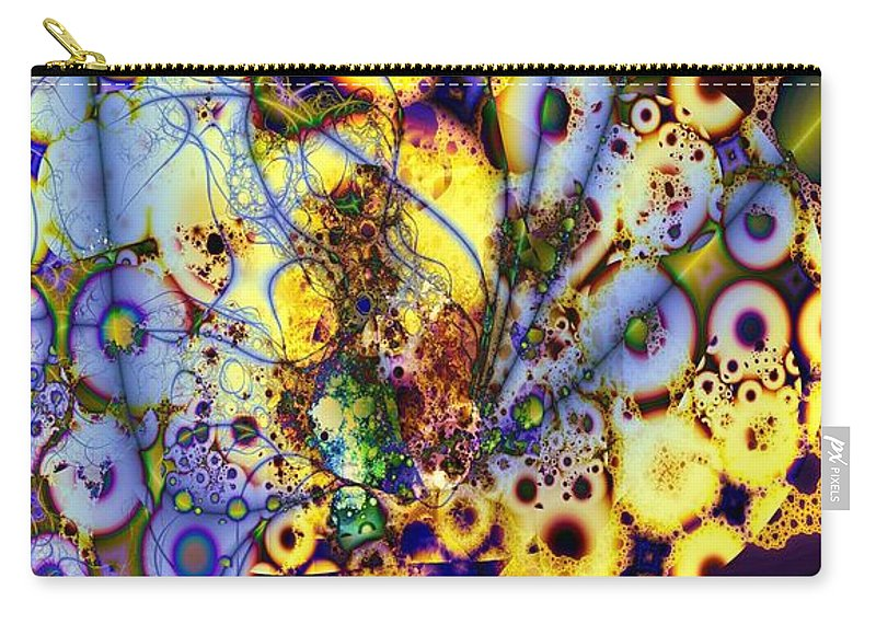 Intertwine Carry-all Pouch featuring the digital art Intertwined by Ron Bissett