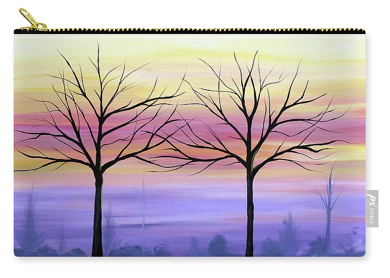 Trees Carry-all Pouch featuring the painting Intertwined by Stacey Zimmerman