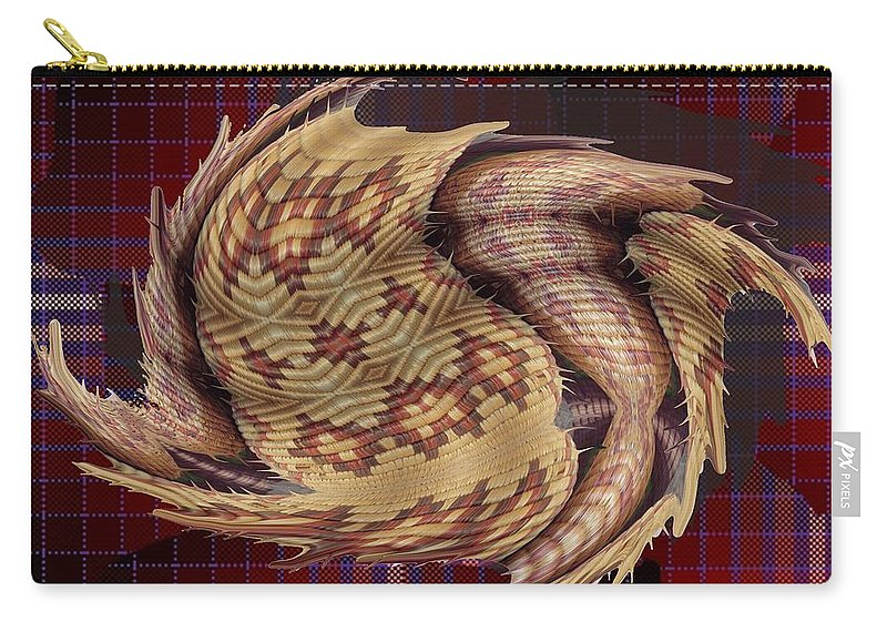 Digital Art Carry-all Pouch featuring the digital art Interwoven by Ron Bissett