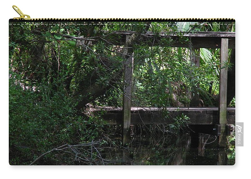 Woods Carry-all Pouch featuring the photograph Into Green by Greg Patzer