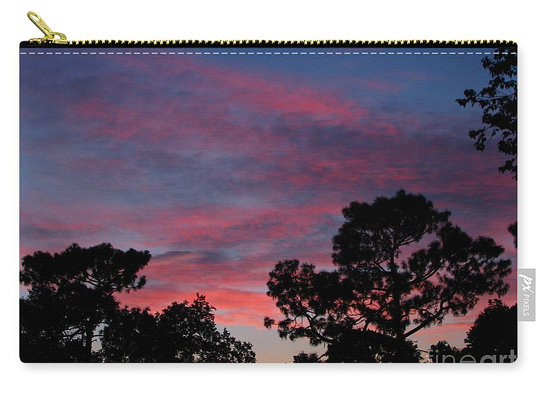 Sunsets Carry-all Pouch featuring the photograph Into Night by Greg Patzer