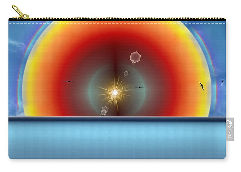 Sun Carry-all Pouch featuring the digital art Into The Eye Of The Sunset by Tim Allen