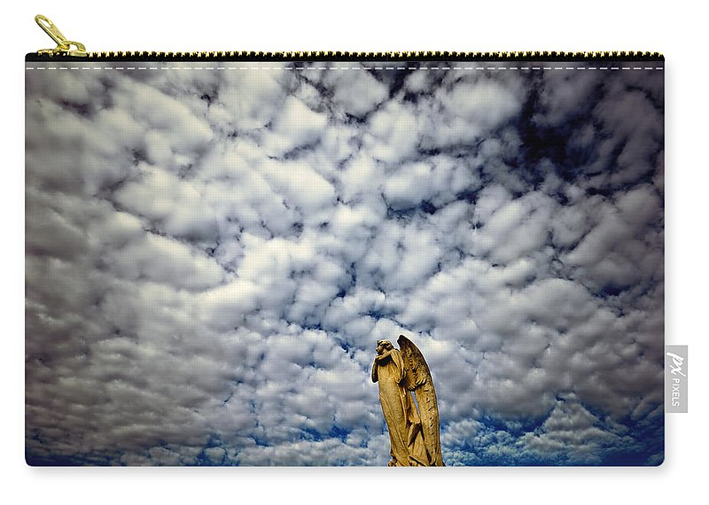 Angel Carry-all Pouch featuring the photograph Into The Firmanent by Wayne Sherriff