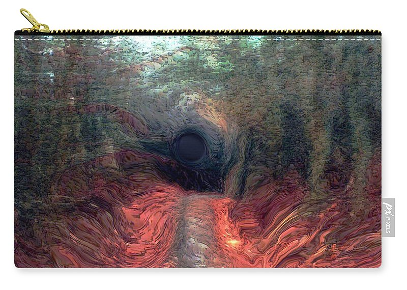 Forest Carry-all Pouch featuring the photograph Into The Forest by Linda Sannuti
